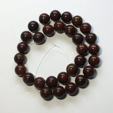 Load image into Gallery viewer, Bloodstone Semi-Precious Stone Round Beads, 12 mm -  30 Beads