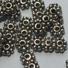 Load image into Gallery viewer, Antique Silver Three-Strand Spacer / Separator Bars/Beads, 10 x 3 mm - 14 or 20 Bars/Beads
