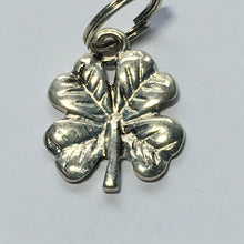 Load image into Gallery viewer, Antique Silver Shamrock Cloverleaf Charm 18 x 14 mm