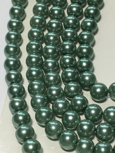 Load image into Gallery viewer, Pearl Elegance Sage Round Glass Pearls, 6 mm  - 158 Beads