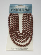 Load image into Gallery viewer, Pearl Elegance Light Brown Round Glass Pearls, 6 mm - 158 Beads