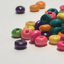 Load image into Gallery viewer, Multi-Color Wooden Beads, 2 x 4 mm, 115 Beads