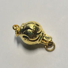 Load image into Gallery viewer, Gold Ball Tab Clasp, 15 x 7 mm