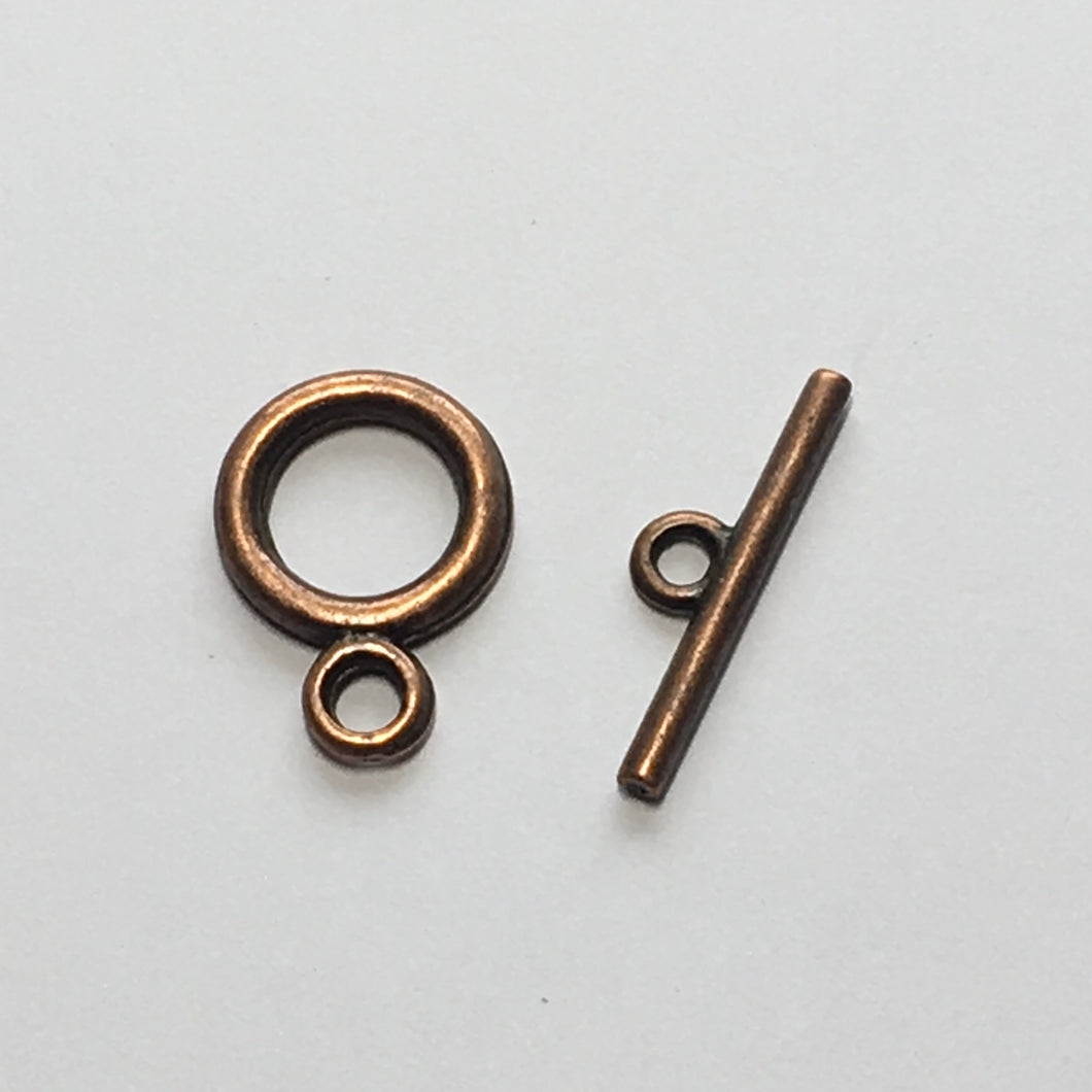 Antique Copper Toggle Clasp,  22 mm