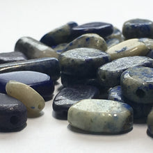 Load image into Gallery viewer, Sodalite Semi-Precious Stone Bead Mix, Oval Flat, Tube and Round, 52 Beads