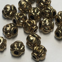 Load image into Gallery viewer, Gold Lantern Beads, 4 x 4 mm -  20 Beads
