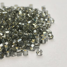 Load image into Gallery viewer, TOHO TBC-29 Aiko Hex Silver Lined Light Black Diamond Seed Beads, 5 gm