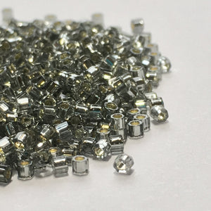 TOHO TBC-29 Aiko Hex Silver Lined Light Black Diamond Seed Beads, 5 gm