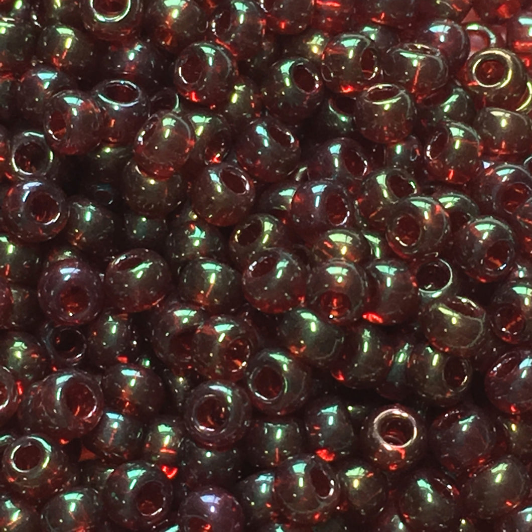 TOHO TR-11-330  11/0 Maroon Gold Luster Seed Beads, 5 gm