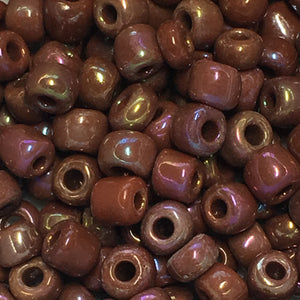 6/0 Opaque Brown Rainbow Seed Beads 5 or 10 gm