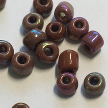 Load image into Gallery viewer, 6/0 Opaque Brown Rainbow Seed Beads 5 or 10 gm