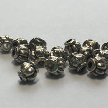 Load image into Gallery viewer, Antique Silver Lantern Beads, 4 x 4 mm - 15 Beads
