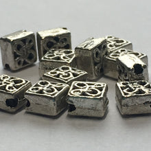 Load image into Gallery viewer, Antique Silver Celtic Diamond Beads, Hole on Point,  6 mm - 14 Beads