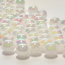 Load image into Gallery viewer, White Luster AB Round Acrylic Beads, 6 mm - 100 Beads