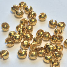 Load image into Gallery viewer, Gold Finish Crimp Bead Covers, 3 mm -  39 Covers