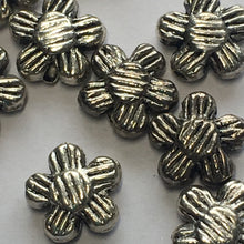 Load image into Gallery viewer, Antique Silver Grooved Flower Beads, 8 x 2 mm - 10 Beads