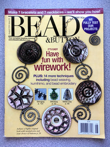 Bead & Button Magazine - August 2009 Issue 92 It's Easy - Have Fun With Wirework