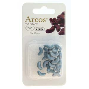 Arcos Par Puca 5 x 10 mm 03000-14464 Opaque Blue Grey, 5 x 10 mm - 26 Beads on 5 gm Card