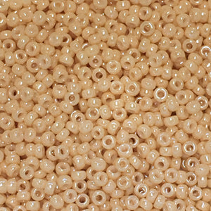 Miyuki M-15-593  15/0 Light Caramel Ceylon (Like DB 205) Seed Beads, 5 gm
