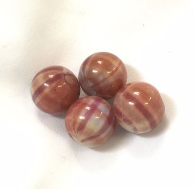 Brown and Mauve Acrylic Beads, 14 mm - 4 Beads