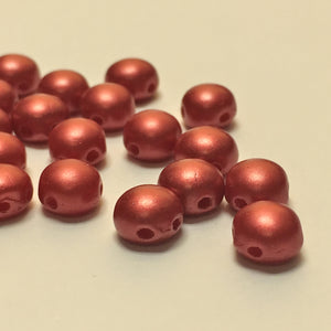 Czech 6 mm Candy 25010 Pastel Dark Coral Beads - 25 Beads