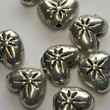 Load image into Gallery viewer, Antique Silver Heart Pillow Beads 7 x 9 mm , 10 Beads
