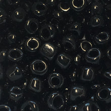 Load image into Gallery viewer, 6/0 Opaque Jet Black Seed Beads -  3, 5 or 10 gm