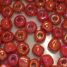 Load image into Gallery viewer, 6/0 Opaque Red AB Seed Bead 5 gm