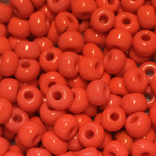 Load image into Gallery viewer, 6/0 Opaque Coral Seed Beads, 10 gm