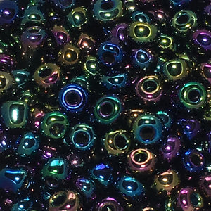 8/0 Rainbow Iris Seed Beads, 5 or 10 gm
