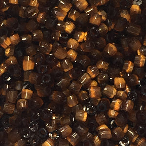 15/0 Tiger's Eye Glass 3-Cut Seed Beads, 5 gm