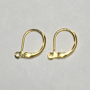 21-Gauge 13 mm Gold Plated Lever Back Earring Wires -1 Pair