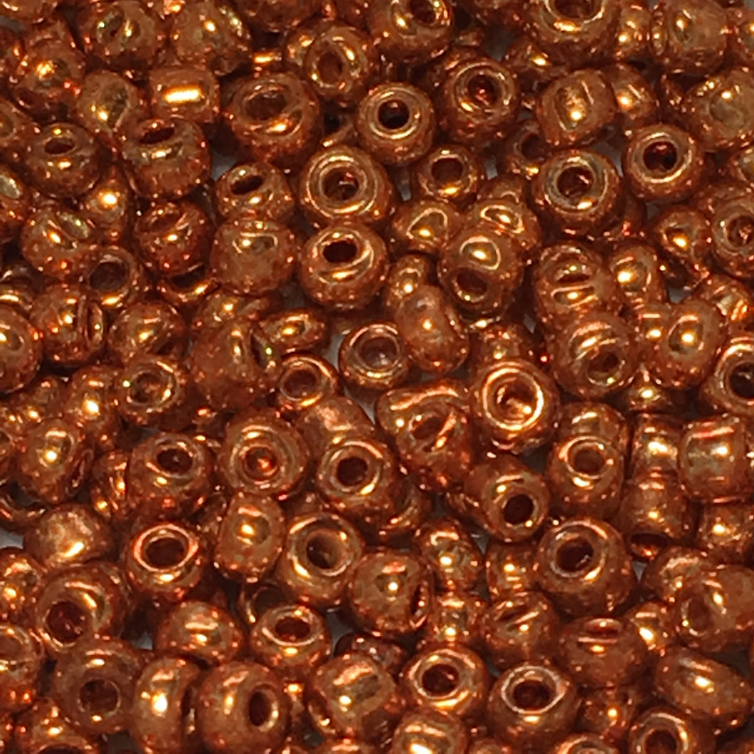11/0 Copper Seed Beads 5 gm