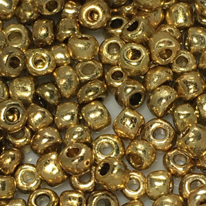 8/0 Gold Seed Beads, 5 gm