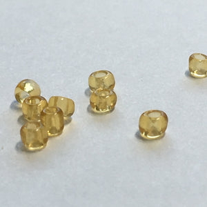 11/0 Transparent Topaz Seed Beads, 5 gm