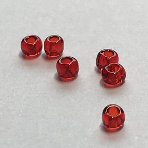 11/0 Transparent Ruby Red Seed Beads 5 gm