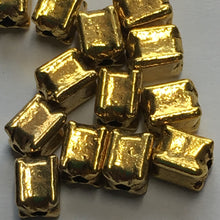 Load image into Gallery viewer, Gold Rectangle Beads, 6 x 4 mm - 13 Beads