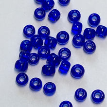 Load image into Gallery viewer, TOHO TR-11-8 - 11/0 Transparent Cobalt Blue Seed Beads, 5 gm