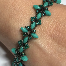 "Load image into Gallery viewer, Bead Kit to Make ""Oh, My Stars! Bracelet"" Turquoise / Emerald / Jet Full Chrome with Free E-Tutorial starting at $9.99"