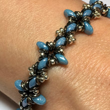 "Load image into Gallery viewer, Bead Kit to Make ""Oh, My Stars! Bracelet"" Blue Luster/ Silver / Jet Full Chrome with Free E-Tutorial starting at $9.99"