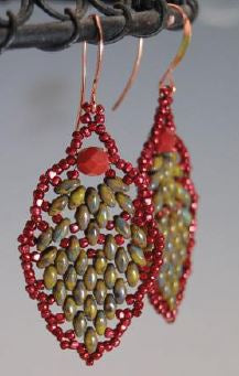 Pinecone Earrings Free Pattern/Tutorial/Instructions