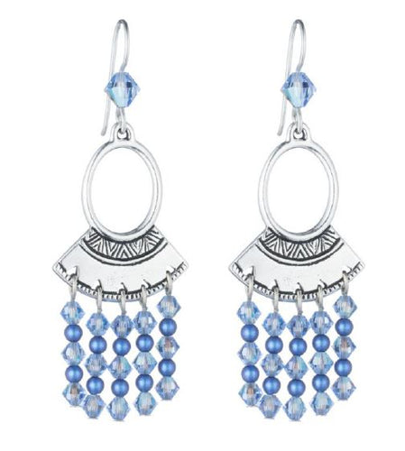 Summer Blue Earrings Free Beading Pattern/Tutorial/Instructions