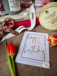 NJ Living Happy Birthday Gift Card
