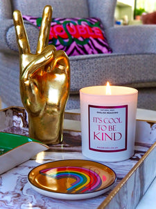 NJ Living It's Cool To Be Kind Natural Wax Candle in English Meadows