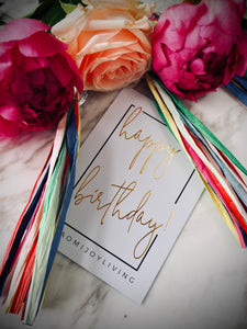 NJ Living Happy Birthday Gift Card in Gold Foil