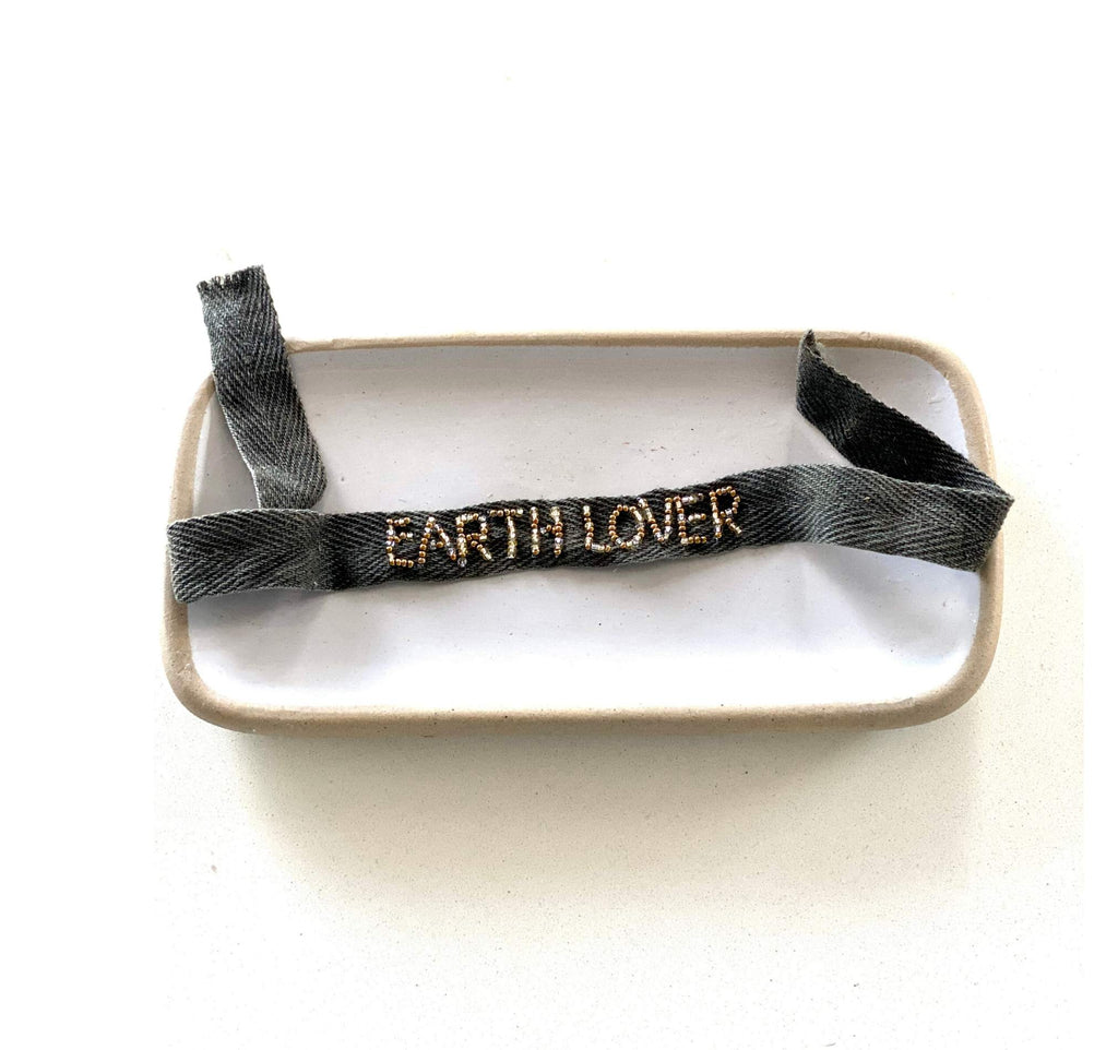 Beaded Cotton Earth Lover wristband