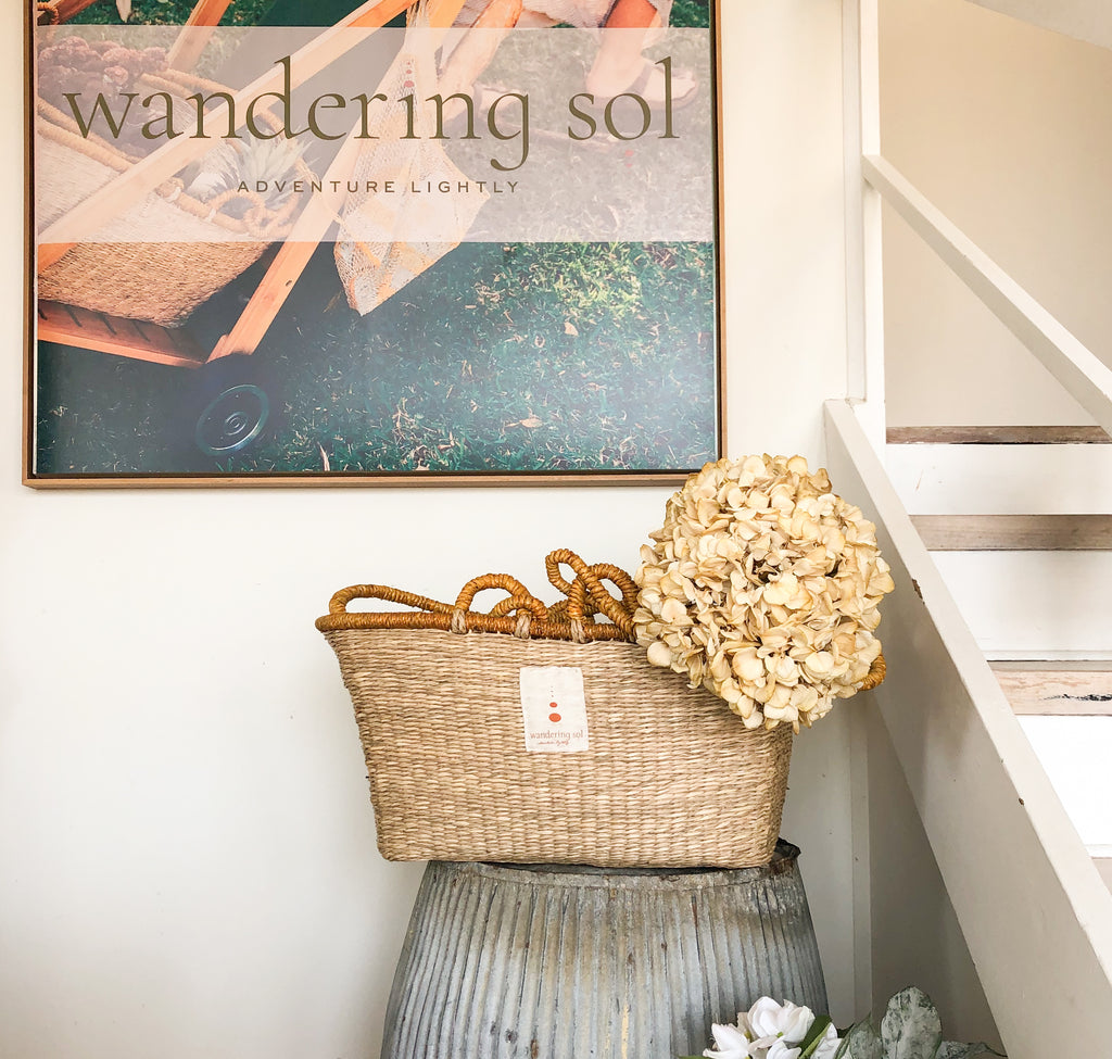 THE SOL SHOPPER seagrass basket