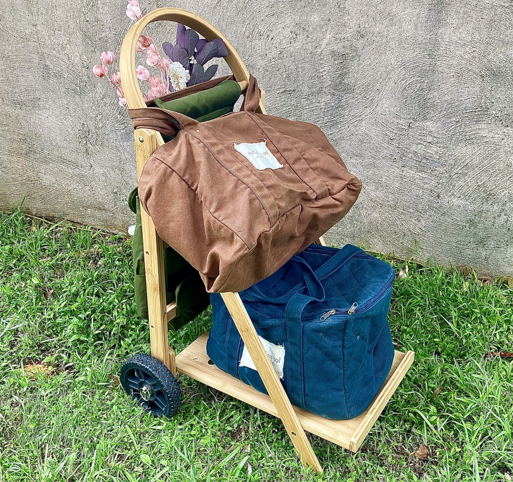 THE WANDERER Cart COOLER Set- set includes Frame, Recycled Canvas Bag & The Cool Down Cooler Bag