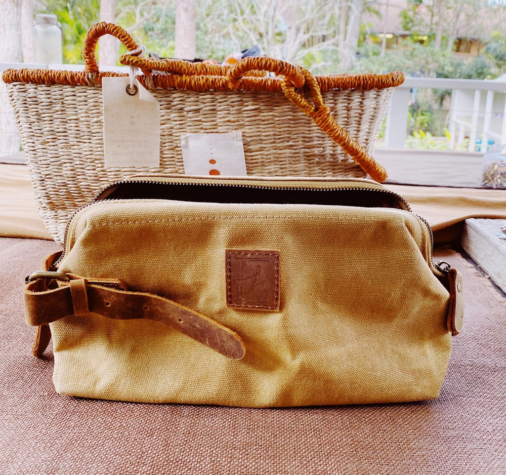 Waxed Canvas Dopp Kit Toiletry Bag
