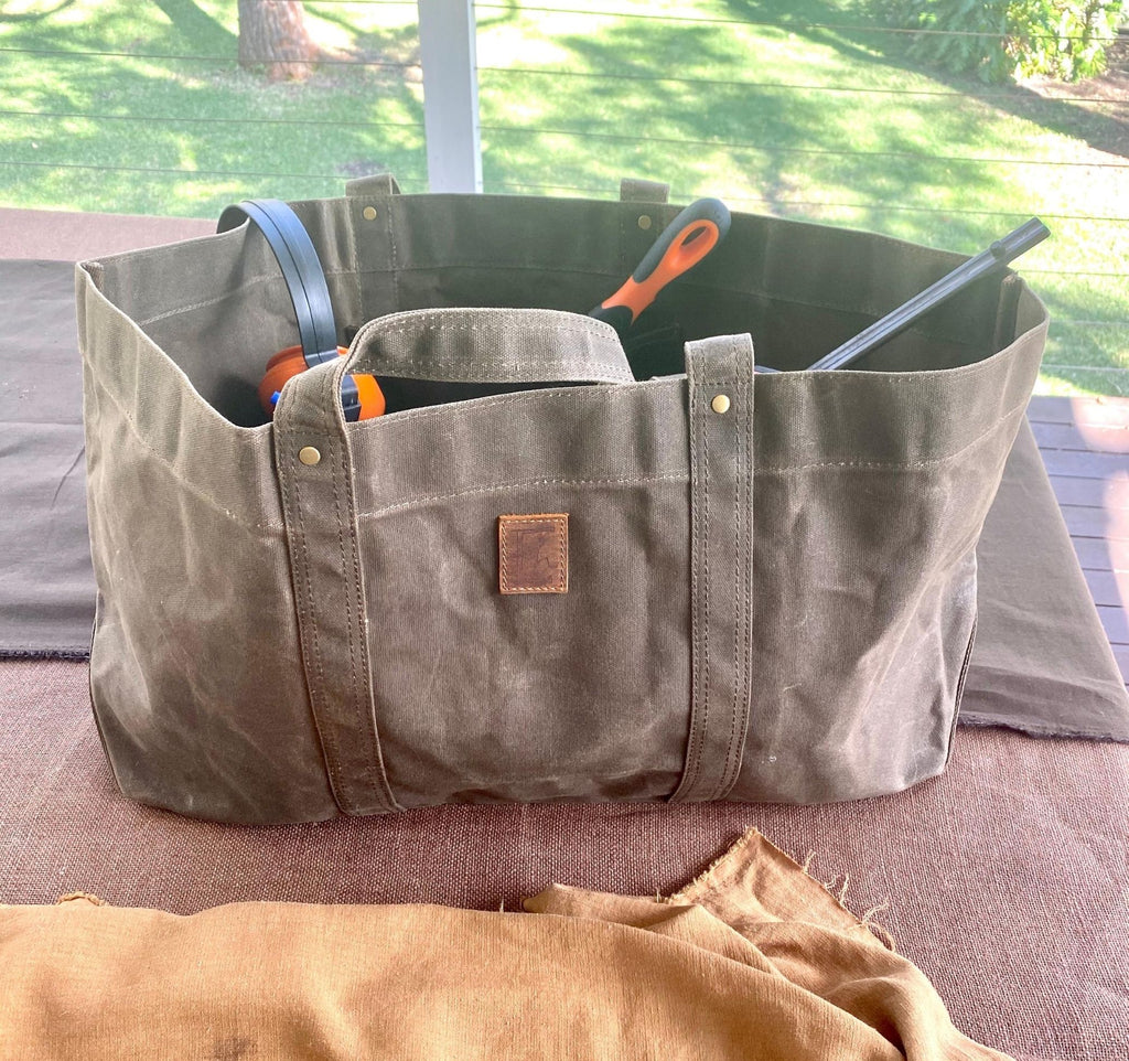 Oversized Waxed Canvas Bag